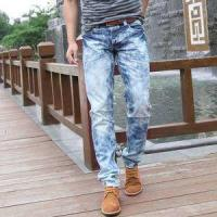 2018 Hot sale men's distressed ripped jeans ripped skinny men jeans Manufactures