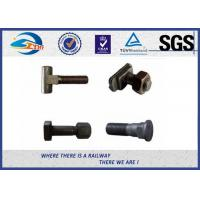 Railroad Fastener Qualified Railway Bolt  with washer / heavy square nuts Manufactures