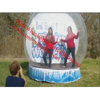 3 - 6m dia advertising Inflatable Snow Globe Bubble Decorations / Snow Bubble Manufactures