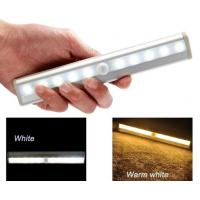 Quality Stick-on AAA Battery Wireless LED lighting Bar Motion Sensor Activated Cabinet Light for sale