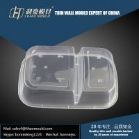 1000ml professional plastic thin wall double compartment lunch box mould making Manufactures