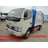 Quality 2018S best seller good price dongfeng 5m3 4tons compression garbage truck for for sale