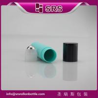 SRS plastic bottle with stell ball ,empty roll on bottle for eye cream.jpg