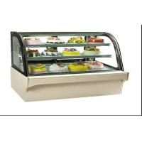 Glass Door Food Warmer Showcase 3 , Upright Cake Cooling Showcase For Bar Manufactures