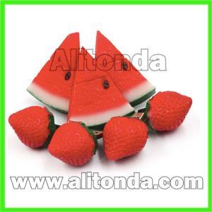 Buy cheap Custom soft pvc decoration cute cartoon food fruit mini usb flash driver from wholesalers
