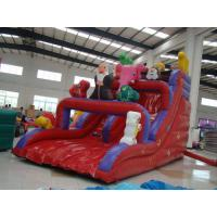Customized Clown Commercial Inflatable Sports Games Red , Inflatable Dry Slide Manufactures