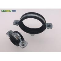 Heavy Duty Cast Iron Pipe Clamps With Rubber , M8 / M10 Rubber Lined Split Pipe Clamp Manufactures