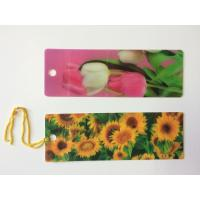 Custom 0.6 mm PET 3D Lenticular Bookmarks With Two Sides CMYK Printing ISO Manufactures