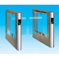 304 / 316 stainless steel security subway automatic swing tempered glass barriers system Manufactures