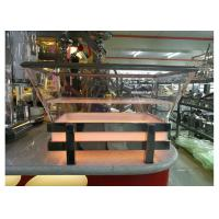 RGB LED Ice Tray with Draining Plate, Transparent Acrylic Seafood Salmon Buffet Display Station Manufactures