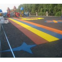 Pour In / Wet Pour Epdm Rubber Flooring , Colorful Rubber Granules Flooring Playground Cover  Manufactures