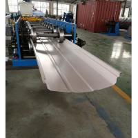 Adjustable Width Standing Seam Roof Panel Roll Forming Machine With Auto Seamer Manufactures