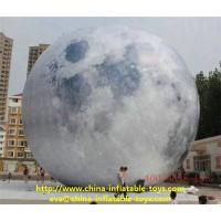 Pvc Fabric Park Mall Advertising Inflatables Moon Model With Led Lamps 6m Manufactures