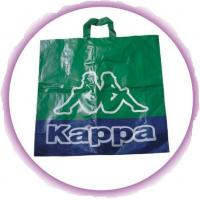 Environmental Friendly Green Recycled Plastic Handle Bag For Shopping Manufactures