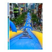 Blue Inflatable Sports Games Inflatable Super Water Long Ramp For Outdoor Play Manufactures