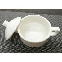 4''  White Stackable Porcelain Soup Bowl Porcelain China Dinnerware Sets Weight 259g Manufactures