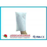 Buy cheap Big Pearl Dot Spunlace Scrub Wet Wipe Gloves Boby Washing Material Square Shape Bathing Glove from wholesalers