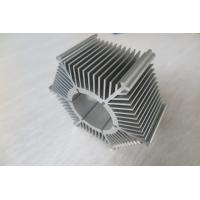 LED Round Sunflower Extruded Heat Sink Profiles With Silver Anodized / Tapping Manufactures