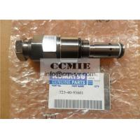 Safety Stainless Steel Hydraulic Main Relief Valve , Komatsu Excavator Relief Valve Manufactures