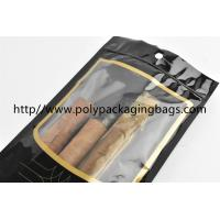 Buy cheap Customized Cigar Packaging Bag For Moisturizing , Black Cigar Ziplock Bags from wholesalers