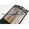 Buy cheap Customized Cigar Packaging Bag For Moisturizing , Black Cigar Ziplock Bags from wholesalers