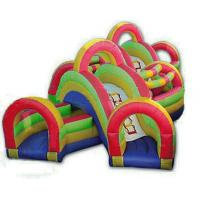 Kids Blow Up Commercial Inflatable Sports Games , Obstacle Course Tunnel Games Manufactures