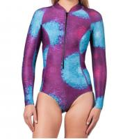 Quality One - Piece Long Sleeve Surf Rash Guard Bikini Leg Printing UV Protection for sale