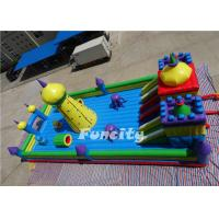 0.55 MM PVC Tarpaulin Double Stitching Inflatable Fun City For Kids 15 * 8 * 6.8 M Manufactures