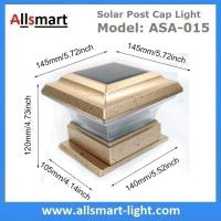 5.8 Inch Square Solar Fence Post Cap Light Victorian Solar Pillar Mount Lamppost Head Elegantly Designed Solar Light Manufactures