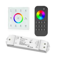 4 Zone RGBW LED Controller , Led Dimmer Touch Panel With Remote Control Manufactures