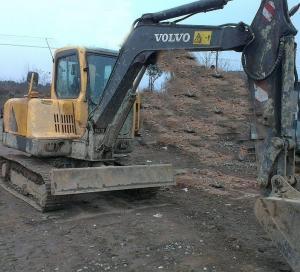 Quality Midi Used Volvo Excavator EC55 0.14cbm Bucket Capacity With Original Turbo for sale