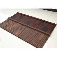 Flat Stone Coated Shingles , Stone Coated Steel Tiles 2.8kg Weight & 10 Popular Colors Manufactures