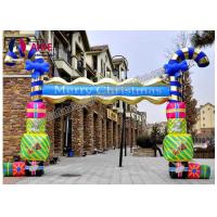Custom Size Inflatable Candy Cane Arch For Christmas Decoration , CE / SGS Manufactures