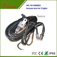 Waterproof and Fireproof Wiring Harness with Deutch connectors for 2 Lights Simultaneously Manufactures