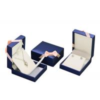 Mens PU Leather Cardboard Jewelry Boxes Bulk Ring Gift Box With Removable Drawer Manufactures