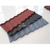 Color Stone Coated Steel Roofing Sheet , Terracotta Color Stone Coated Metal Roof Tile Manufactures