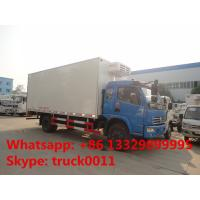 dongfeng DFAC fish vegetable food meat hook refrigerator truck, dongfeng 120hp seafood transported cold room truck Manufactures