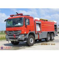 Quality 6x6 Drive Airport Fire Truck Electric Power Window Mercedes - Benz Actros Long for sale