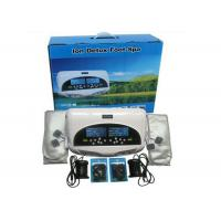Buy cheap Two LCD discreen display White color Dual persons use detox foot spa machine 110-240V from wholesalers