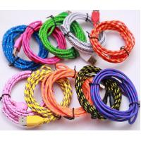 Micro USB Cable Fabric Braided Cable 1M 3FT 2M 6FT 3M 10FT For Htc Lenovo Huawei samsung Manufactures