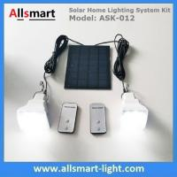 2 Bulbs DC Solar Home Lighting System Kits with Remote Controller Solar Emergency Lights Tent Light for Indoor & Outdoor Manufactures