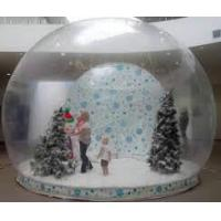 PVC Attractive Inflatable Advertising Products , Christmas Decoration Transparent Crystal Ball Manufactures