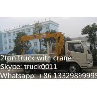 Quality factory sale best price dongfeng  4*2 LHD mini truck with crane, Dongfeng 2.5tons cargo truck mounted on crane for sale for sale