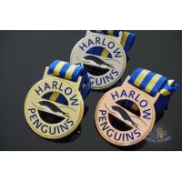 Buy cheap Custom Your Logo Penguins Design Metal Award Medals, Cut Out Shape With Ribbon from wholesalers