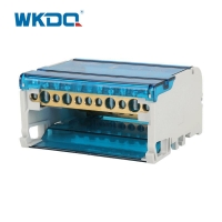 UK 411 Rail Mounted Power Distribution Terminal In Grey And Blue Color Manufactures