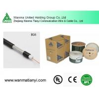 High Quality Black PVC Jacket rg6 coaxial cable Manufactures