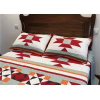 Patchwork Geometric Bedding Sets , Quilting Handmade Twin Bed Sets For Adults Manufactures