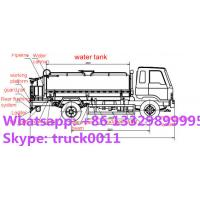 factory direct sale best price CLW brand 5,000L water tank truck, dongfeng Manufactures