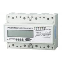 Light Weight Three Phase Energy Meter Accuracy 1.0  PC 35mm Din Rail For Home Manufactures
