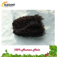 Top Quality Virgin Remy Human Hair piece Afro Curl Hair Extension Manufactures